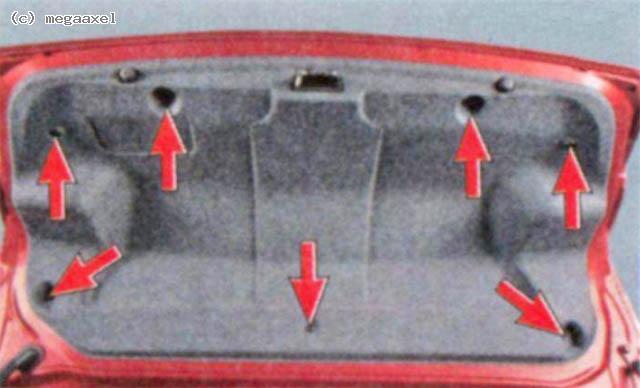 Электрозамок багажника лансер 10