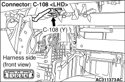 Code No B1411: Passenger's (Front) Air Bag Module (1st Squib) System