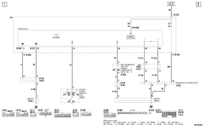 mmc i-miev ELECTRIC  MOTOR REMINDER BUZZER левый руль