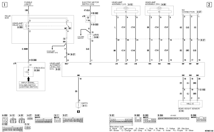 mmc i-miev фары AUTOMATIC  LEVELLING SYSTEM левый руль