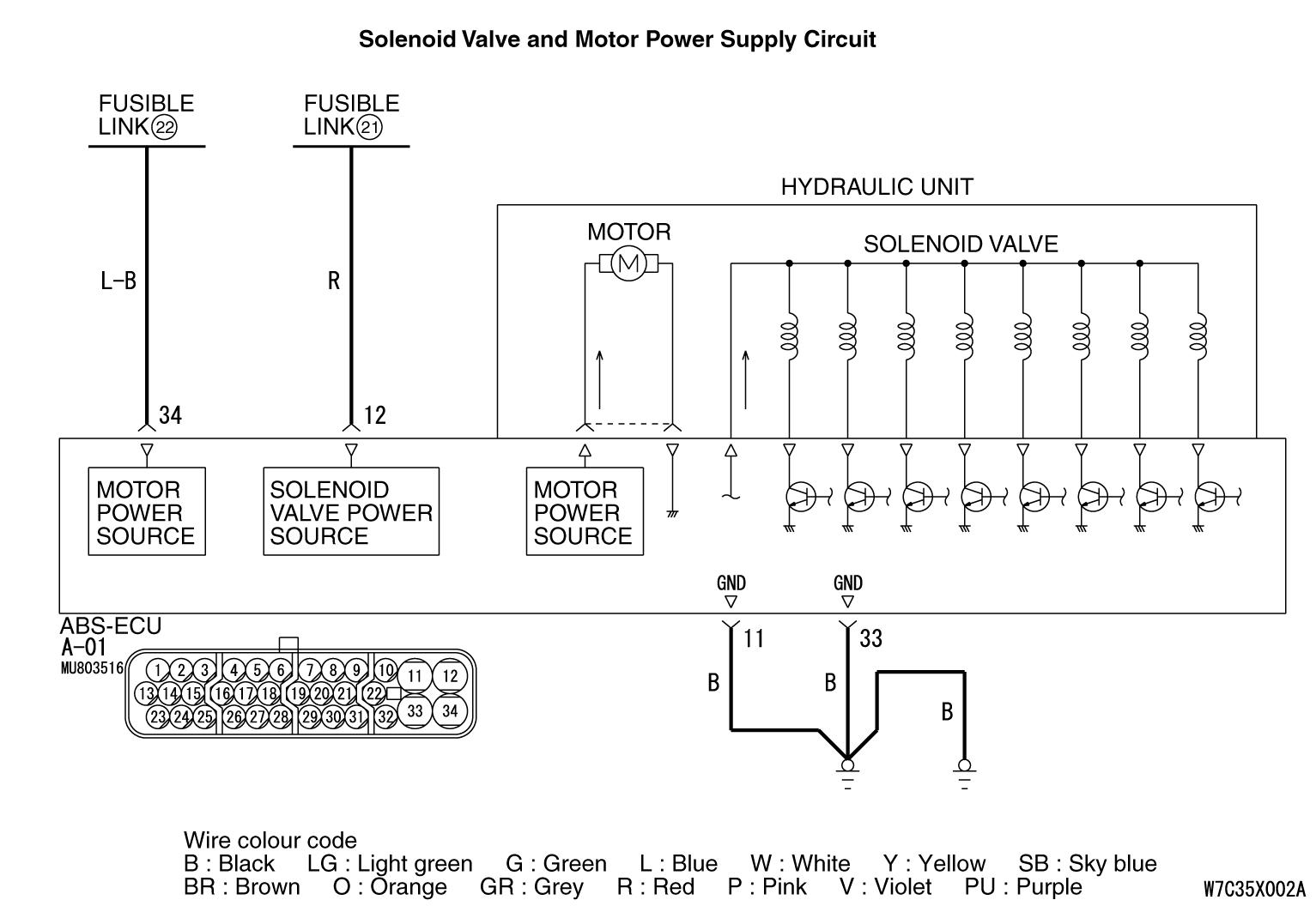 Code Noc1861 Abs Ecu Power Supply System Malfunction Low Voltage Manual Maintenance Electrical Wiring Diagrams Mmc Body Repair C1861
