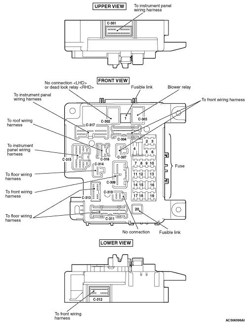 mmc Lancer X 2008 ETACS-ECU