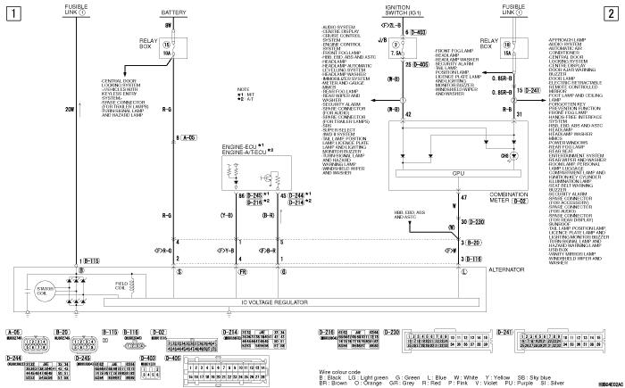 mmc Pajero 4 2012 CHARGING  SYSTEM 6G7