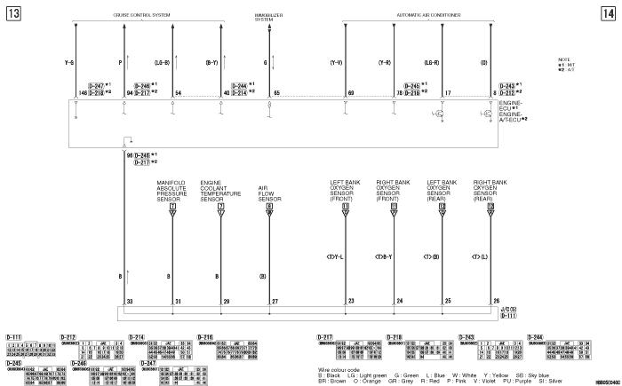 mmc Pajero 4 2012 ENGINE  CONTROL SYSTEM 6G72