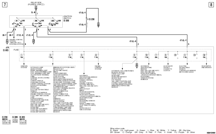mmc Pajero 4 2012 POWER  DISTRIBUTION SYSTEM