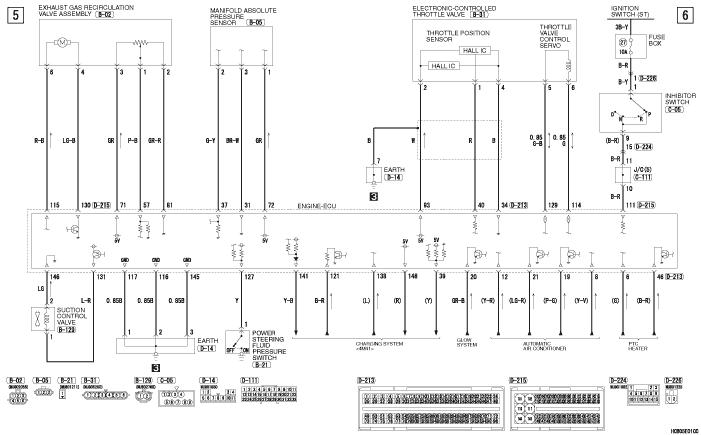 mmc Pajero 4 2012 ENGINE  CONTROL SYSTEM 4M41-АКПП