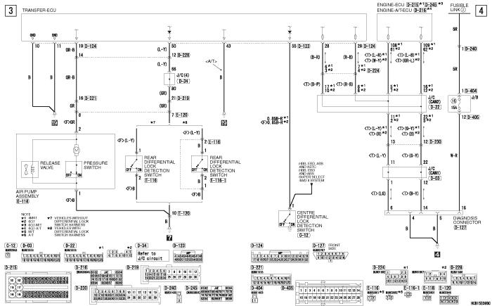 mmc Pajero 4 2012 REAR  DIFFERENTIAL LOCK SYSTEM левый руль
