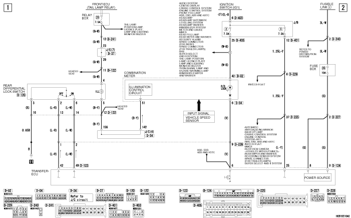 mmc Pajero 4 2012 REAR  DIFFERENTIAL LOCK SYSTEM RHD